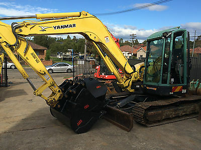 """2011 Yanmar Vio75-C 8 Tonne Excavator With Four Buckets """"only 3700 Hours"""""""