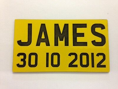 Engraved Np Number Plates For Childrens Little Tikes Cozy Coupe Ride On Toys