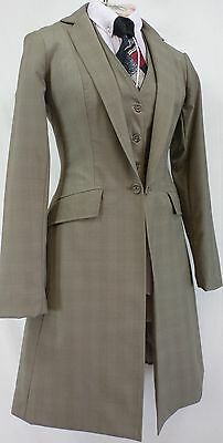 Reed Hill Saddleseat Ld 3p suit Tan Plaid Wool  Blend size 10 - MADE IN USA