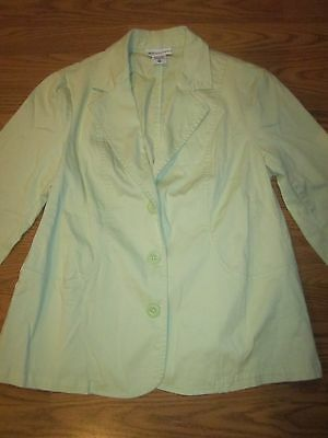 womens MATERNITY BLAZER size medium MOTHERHOOD lime green/tiny ribbed