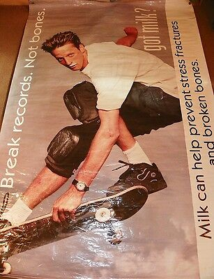 TONY HAWK Large Vinyl GOT MILK Advertising Promo POSTER Break Records Not Bones