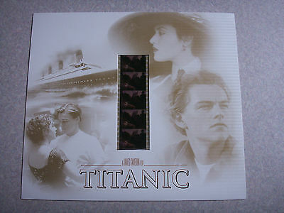 1998 TITANTIC RARE FILM CARD W/ SLIDE PROMO x2 lot