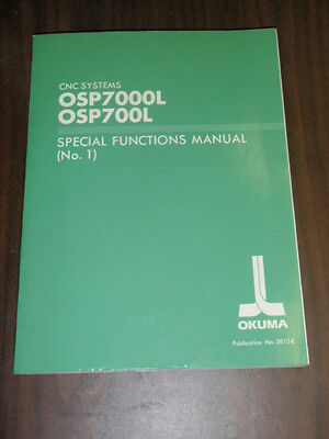 Okuma CNC Systems OSP7000L OSP700L Special Functions Manual No 1 3815-E(LE51-021