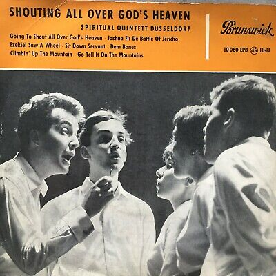 SPIRITUAL QUINTETT DÜSSELDORF: Shouting all over.. (EP Brunwick 10 060 EPB/Mono)