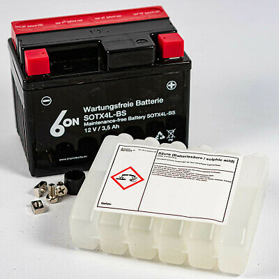 6-ON Wartungsfrei Batterie YTX4L-BS 12V SOTX4L-BS ACID