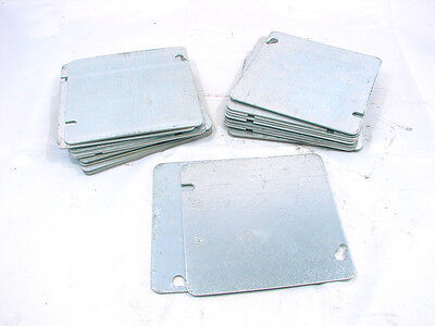 "4-3/4"" X 4-3/4"" Square Electrical Box Cover Plate (Lot Of 22) **nnb**"