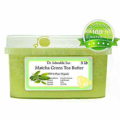 Pure Matcha Green Tea Butter Organic Fresh Cold Pressed Dr.adorable 2Ozupto 12Lb
