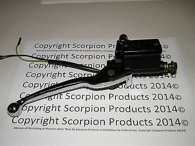 Scooter Brake Master Cylinder Front Brake Lever Brake LightSwitch GY6 50cc 150cc