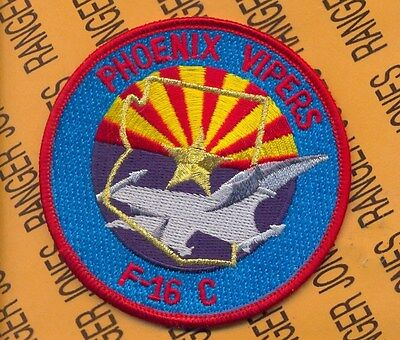 USAF 302nd Fighter Squadron FS HELLION F-16C Phoenix Vipers pocket patch