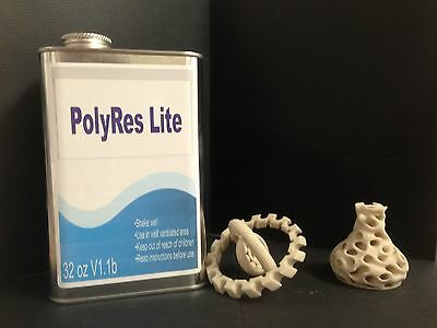 PolyRes Lite UV Curable Resin - Zcorp Compatible - 3D ZBond - Epoxy