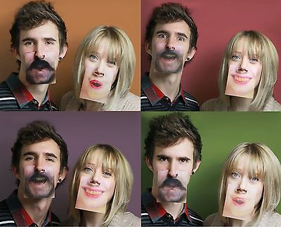 Face 20 Mats 40 Different Faces hilarious beer mats clip on your nose Coasters
