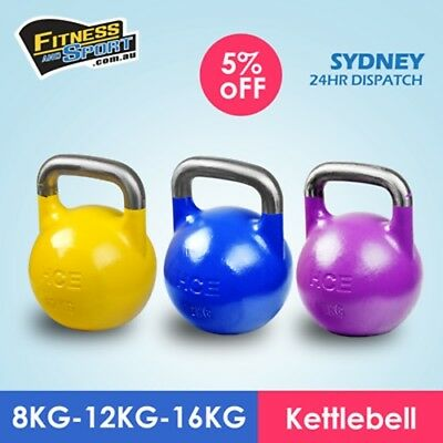 8kg 12kg 16kg Pack Competition Pro Grade Kettlebells Training Gym Kettle bell
