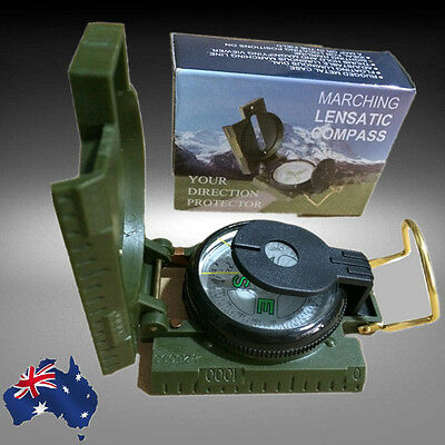 3in1 Military Pocket Survival Compass Travel Hiking Camping OCOMP5301
