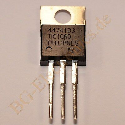 2 x TIC106D Thyristor SCR 400V 5A  BOURNS TO-220 2pcs