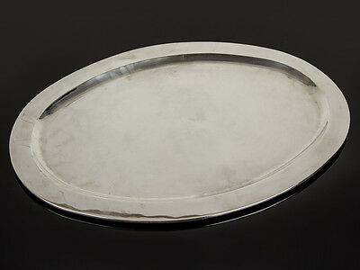 18th C Style Large Sterling Silver 925 Oval Serving Platter