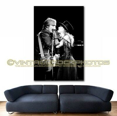Stevie Nicks Tom Petty 36x48 inch Art Gallery Canvas Print Framed Giclee Photo 3