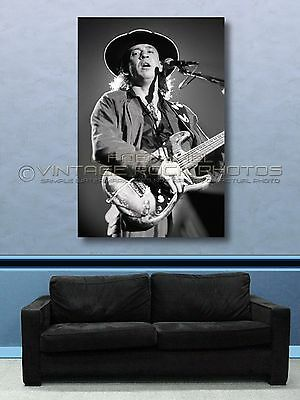Stevie Ray Vaughan 40x60 inch Poster Size Photo Live '80s Concert Pro Print  L11