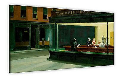 Nighthawks By Edward Hopper Canvas Wall Art Photos Prints Pictures Posters Decor