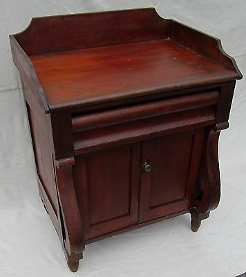 SOLID CHERRY SHERATON SERVER WITH BACK GALLERY & TURNIP FEET IN GREAT FINISH