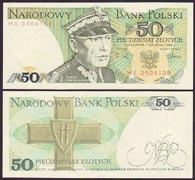 50 Zlotych - Banknote From Poland  - Mint Unc Condition - Polish Zloty