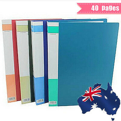 4x A4 Display Book File Folder Document Portfolio Business Presentation 40 Pages
