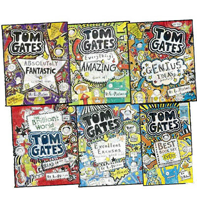 Liz Pichon Tom Gates Humour 6 Books Collection Set For Ages 9-12 Paperback New