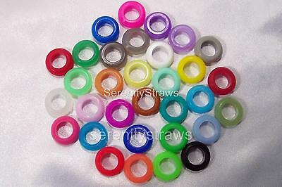 "3/8"" GROMMETS  35 Colors,  Food Grade Silicone (These Match My Straws)"