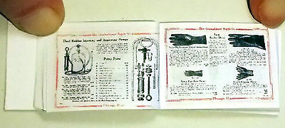Dollshouse Miniature Book - Mortitian's Supply Catalogue