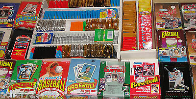 Huge Lot of 300 Old Vintage Baseball Cards in Unopened Wax Packs