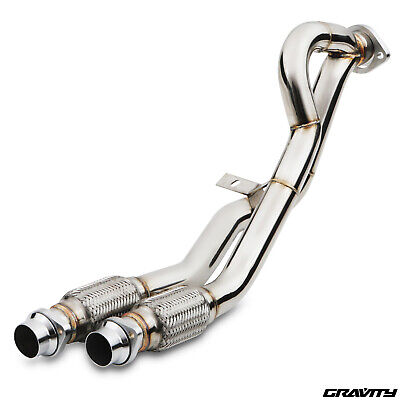 STAINLESS SPORT EXHAUST DE CAT DECAT PIPE FOR BMW 5 SERIES E39 2.5 525d 95-03