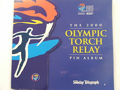 2000 Sunday Telegraph Olympic Torch Relay set of 15 pins plus album