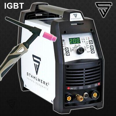WELDER STAHLWERK TIG 200 PULSE S - DC INVERTER with HF MMA ARC STICK Hot Start