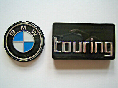 Set original BMW Systemkoffer Emblem 41mm + Touring R850RT R1100RT R1150RT badge