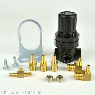 Black Manual Boost Valve Controller Kit - with fittings and hose