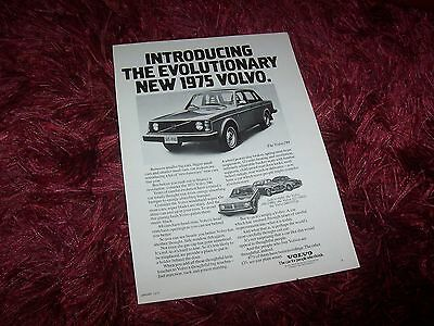 VOLVO 1975 Publicité Magazine / Original  ADvertising USA //