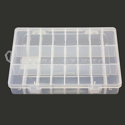 Hot Sale 24 Grid Jewelry Watch Leather Display Box Glass Top Organizer Case