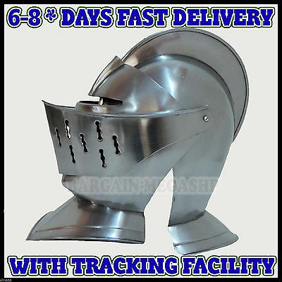 Knight Antique Helm Replica Medieval Knight Crusader Armour -Christmas Gift r5y2