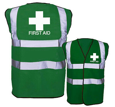First Aid Hi Vis Vest - Green - High Visibility - EN471 - 1st Emergency 0077
