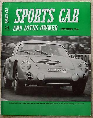 SPORTS CAR & LOTUS OWNER Magazine Sept 1960 AUSTIN HEALEY SPRITE Lotus Seven