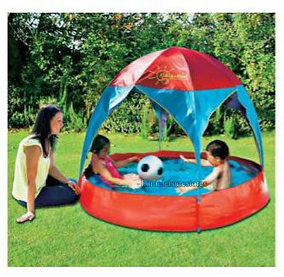Inflatable 8ft family paddling pool fast set swimming pool for Elc paddling pool