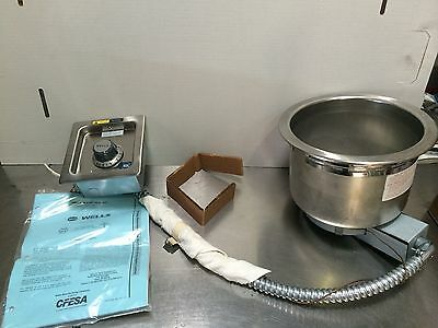 Food Warmer, Built In, Fits 7 Quart Round Inset, Thermostatic Control, SS8TDU