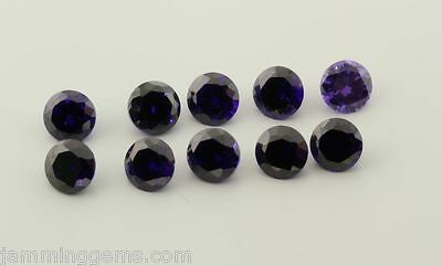 CLEARANCE Violet Cubic Zirconia 5mm Rounds (Lot of 10)