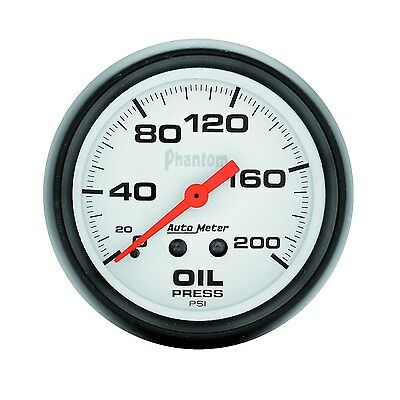 "Autometer Oil Pressure Gauge In Dash Mechanical 2.5/8"" 0-200 Psi - Au5822"