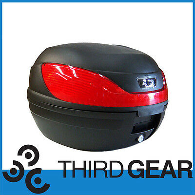 Secure Latch 32L Motorcycle Scooter Topbox Rear Storage Luggage Top Box