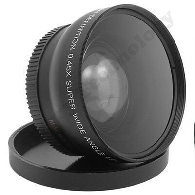 0.45X Wide Angle Macro LENS 52mm 52 for Canon EOS Rebel 20D 30D 40D