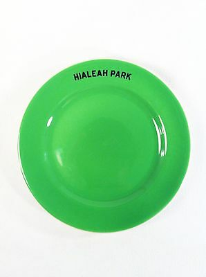 RARE 1940 Green Hialeah Park Horse Racing Track Miami Syracuse China Plate 5""