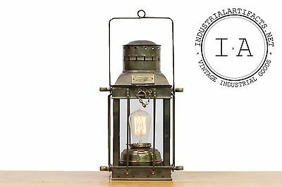 Vintage Industrial Cargo Lamp No 3954 Electric Lantern Great Britain 1939 Light