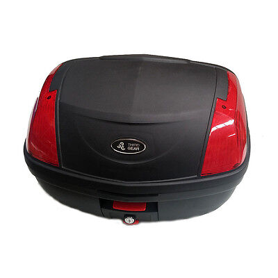 Secure Latch 52 L Motorcycle Scooter Topbox Rear Storage Luggage Top Box