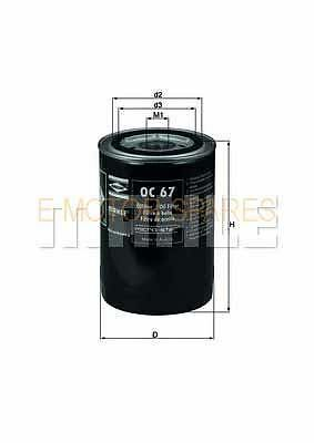 MAHLE Oil Filter Hydraulic Filter, automatic transmission Ford, Rover,var OC67
