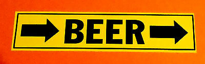 "Funny ""BEER"" Pipe Marker PVC sticker"